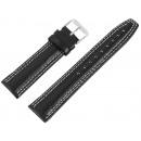 Basic Echtleder Armband in schwarz glatt gepolste