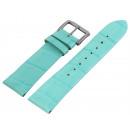 Großhandel Armbänder: Echtleder Armband im türkisen Alligatorlederdesign