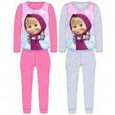 Großhandel Nachtwäsche: Mascha und der Bär  Pyjamas Mädchen MAB 52 04 044