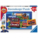 wholesale Toys: Puzzle Fireman Sam Puzzle 2x24 elements - Strazak