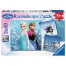 ingrosso Prodotti con Licenza (Licensing): puzzle Disneyfrozen Pezzi del puzzle 3x49 - ...