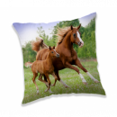 Photoprints Sweet home Horse Brown Pillow