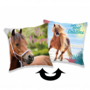 wholesale Cushions & Blankets: Photoprints Sweet home Horse Heart Pillow cover