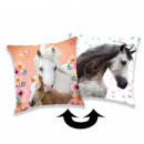 wholesale Cushions & Blankets: Photoprints Sweet home Horse Square Pillow a dear