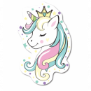 Photoprints Sweet home Unicorn White Pillow shape