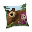 MASHA AND THE BEAR Masha and the Bear Blue pillow