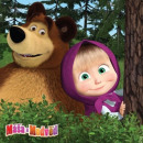 wholesale Cushions & Blankets: MASHA AND THE BEAR Masha and the Bear In Forest po