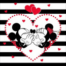 Mickey and MinnieMickey and Minnie Stripes Pillow
