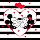 Mickey y MinnieMickey y Minnie rayas Cojín c