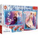 Puzzle Disneyfrozen Puzzle 2 x + memory - Kraina L