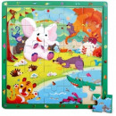 wholesale Wooden Toys: TOP BRIGHT wooden game and puzzle - Jungle, 25 pcs