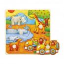 Großhandel Holzspielzeug: Holzpuzzles mit Reißnägeln TOP BRIGHT - Safari