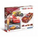 Puzzle 104 elements + 3D Car Model