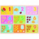 TOP BRIGHT Puzzle puzzle Aprender a contar 27 piez