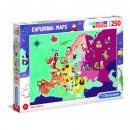 Puzzle 250 piezas Explorando mapas Grandes persona
