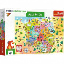 Puzzle 54 elements Educational Map of Poland