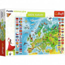 Puzzle 160 elements Educational Map of Europe