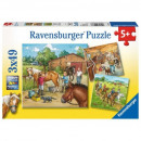 Puzzle 3X49 pezzi My Stable