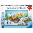 wholesale Toys: Puzzle 2x24 elements Machines at Work