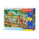 Puzzle da 70 pezzi - Cappuccetto rosso