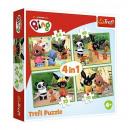 groothandel Speelgoed: Puzzel 4in1 Bing - Happy day