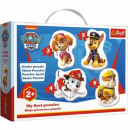 Puzzel Baby Skye Marshall Chase Rubble Paw Patrol