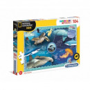 wholesale Toys: Puzzle 104 pieces NATIONAL GEOGRAPHIC KIDS Ocea