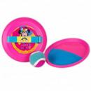 Großhandel Bälle & Schläger: Mickey MAUSFANGKUGEL - Klettpaletten Minnie