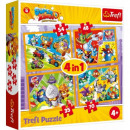 wholesale Food & Beverage: 4in1 puzzles Super Zings heroes series 4
