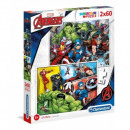 rompecabezas Avengers Puzzle 2x60 piezas Super Col