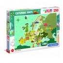 Puzzle 250 piezas Explorando mapas Grandes lugares