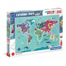 Puzzle de 250 piezas Explorando Mapas C&T en W