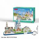 3D City Line Puzzle Bavaria