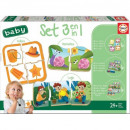Großhandel Knobelspiele: Baby Puzzle Spiel 3in1 Set