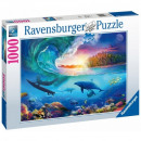 Puzzle 1000 pezzi Serfer cattura le onde