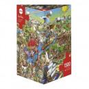 1500 darabos puzzle - a történelem folyója
