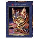 Puzzle Cat Puzzle 1000 pieces - Precious animals