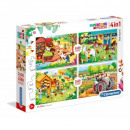 Puzzle 2x20 + 2x60 elementi Super Color - Farm