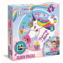 Puzzle Unicorn Puzzle Clock 96 elements Unicorn