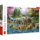 Puzzle da 1000 pezzi - The Wolf Family