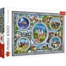 1000 darab puzzle - világvárak
