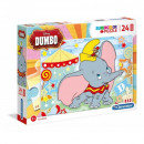Puzzle 24 elemből Maxi Dumbo