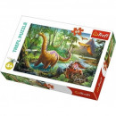 Puzzle of 60 elements - Dinosaurs wandering