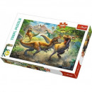 Puzzle of 160 pieces Fighting Tyrannosaurs