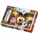 Puzzle of 60 elements - Masha and the Bear, Wesoly