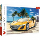 Puzzle of 500 elements. Summer adventure. Car