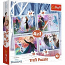Puzzle Disneyfrozen 4-in-1 puzzles in a magical fo