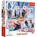Puzzle Disneyfrozen 4-in-1-Rätsel in einem magisch