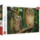 Puzzle of 1000 pieces Owls