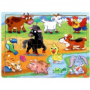 wholesale Wooden Toys: TOP BRIGHT wooden puzzle - In the countryside, 20